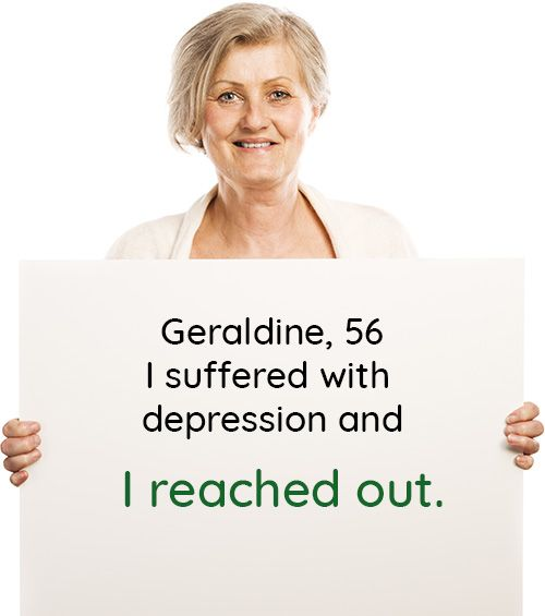 Geraldine, 56: I suffered with depression and I reached out